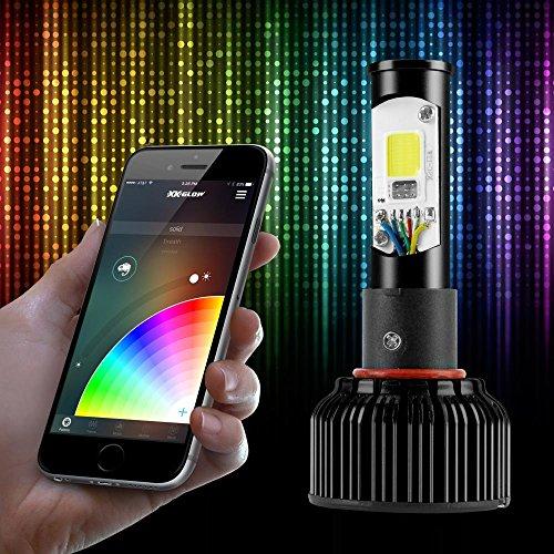 H11 2in1 LED Headlight Bulb Kit - XKchrome Smartphone App-enabled Bluetooth RGB Devil Eye  LED Headlight Conversion