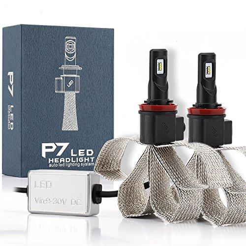 LEADTOPS Car LED Headlight Bulbs Kit - H8H9 H11 Socket - 60W 9600LM 6000K Cw - Philips Chips Headlamps