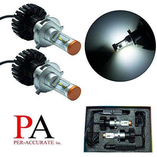 PA Pair H4 9003 P43T HS1 LUMILED ZES LED 160W Headlight Bulb Kit Xenon White Lamp 6000K 11000LM White
