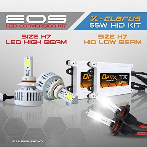 Optix Autolabs - H7 HID Headlight Conversion Kit Low Beams 5000K Brilliant White - H7 LED Headlight Conversion Kit 6000K White Fog Lights