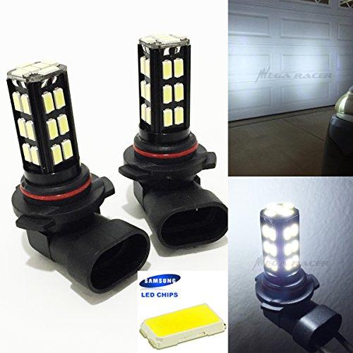 Pack of 2 9005-HB3 High Beam Headlight Hyper White 6000K Bright-Chip 30-LED Lamp Xenon Light Bulb Replace Stock OEM