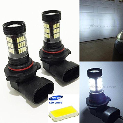 Set of 2 9005-HB3 High Beam Headlight Hyper White 6000K Bright Chip 57-LED Lamp Xenon Light Bulb Replace Stock Car