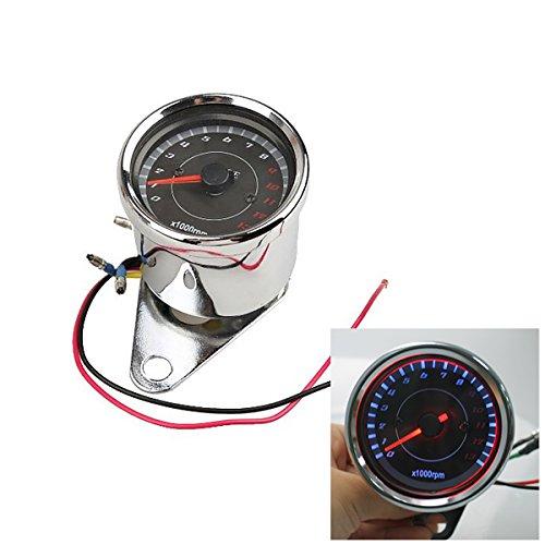 Iztor Motorcycle Tachometer Rev Counter 0-13000 RPM