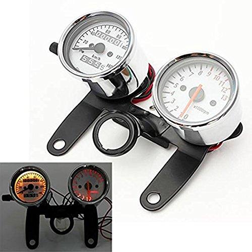 Iztor Universal Motorcycle scooters Tachometerodometer Speedometer Gauge with black Bracket