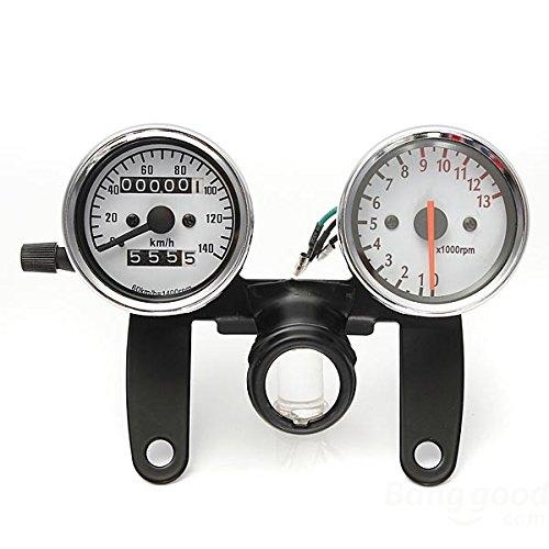 Iztoss Motorcycle Odometer Tachometer Speedometer Gauge with Black Bracket