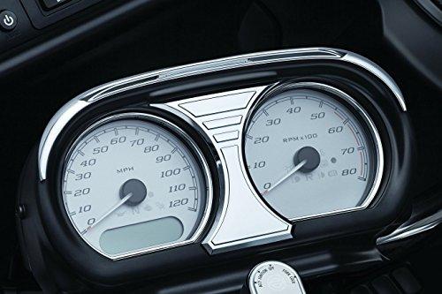 Kuryakyn 6926 Tri-Line Chrome Speedometer and Tachometer Accent