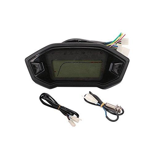 PACEWALKER LCD Digital KMH MPH 14000RPM Motorcycle ATV Bike Odometer Speedometer Tachometer 1 2 4 Cylinders