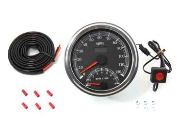 V-Twin 39-0730 - Multi Ratio Speedometer Tachometer Combo