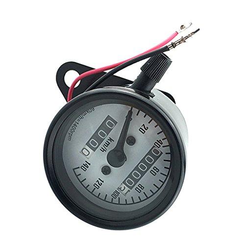 MagiDeal Motorcycle Motor Bike LCD Digital Speedometer Mechanical Odometer