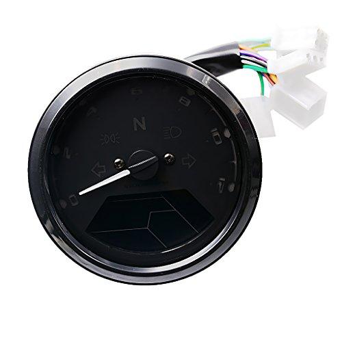 MonkeyJack Universal LCD Digital Speedometer Tachometer Odometer RPM for 2 4 Cylinders Motorcycle