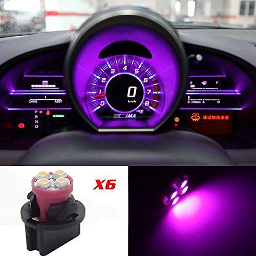 CCIYU 6 PackT10 LED Bulbs Pink Purple Instrument Panel Speedometer Odometer Light