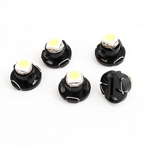 5 Pcs Car T47 5050 SMD LED Dashboard Dash Gauge Light Lamp 12V White