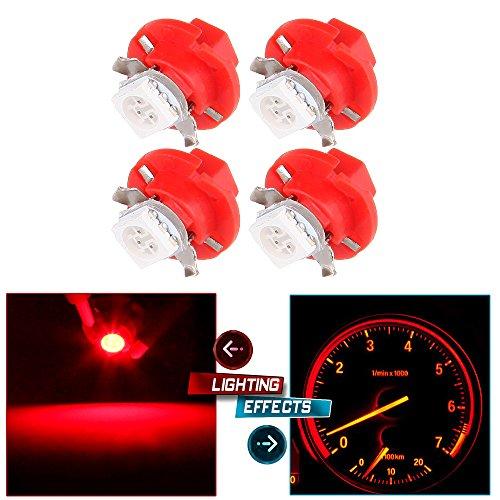 CCIYU 4X T5 B84D 5050 LED SMD Red Dash Auto Dash Gauge Instrument Panel Light BulbBMW E32 E34 E36 Dash Gauge Instrument LED For Dashboard Gauge Indicator Instrument Speedometer