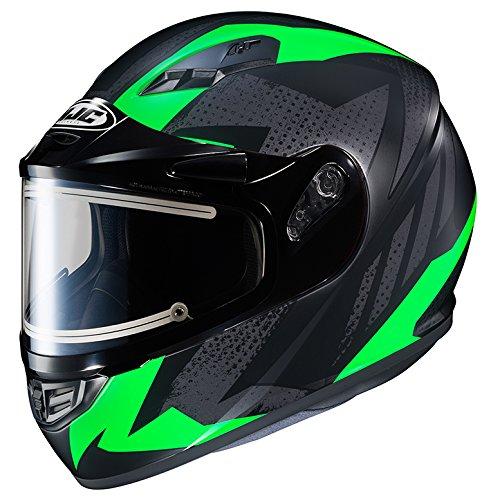 HJC CS-R3 Framed Electric Motorcycle Snowmobile Helmet Treague BlackGreen MC-4F Large More Size Options