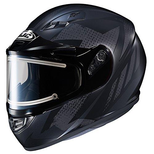 HJC CS-R3 Framed Electric Motorcycle Snowmobile Helmet Treague BlackSilver MC-5F Large More Size Options