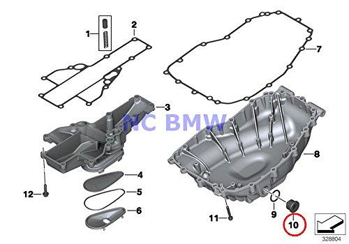 BMW Genuine Oil Pan  Single F Oil Pump Magnetic Screw Plug M24X2 F650CS G650 Xchallenge G650 Xcountry G650 Xmoto F700GS F800GT F800S F800ST F650GS F800GS F800R F800GS Adventure F650GS F650GS Dakar