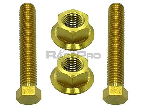 Gold Titanium Axle Chain Adjuster Bolts - Suzuki Gsxr1300 Hayabusa 03-07