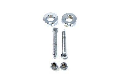 V-Twin 44-0609 - Chrome Rear Axle Adjuster Kit