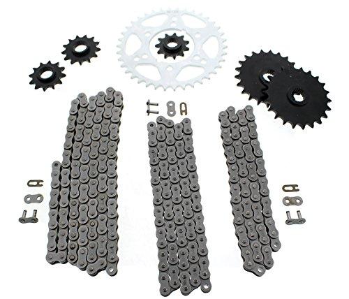 Polaris Scrambler 400 4x4 Non O Ring Chains Complete Sprocket Set