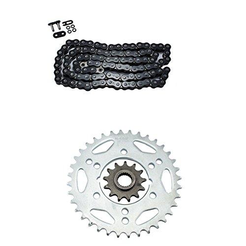 Black O-Ring Chain and Sprocket Kit for Polaris 500 Scrambler 4x4 2000 2001 2002 2003 2004 2005 2006 2007 2008 2009 2010 2011