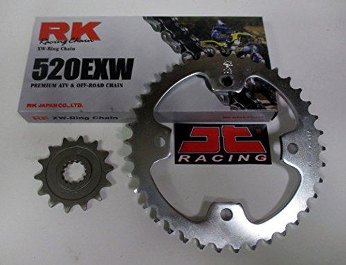 RK Chain and JT Sprockets Chain and Sprocket Kit Fits Kawasaki KFX 450R 2008-2014