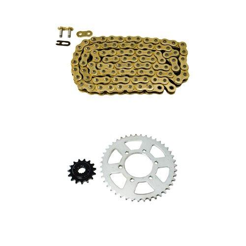 Gold Chain and Sprocket Kit for Kawasaki ZX636 Ninja 636 ZX-6R 2005 2006