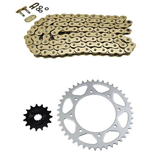 Gold O-Ring Chain and Sprocket Kit for Kawasaki KL650 KLR650 1990-2015