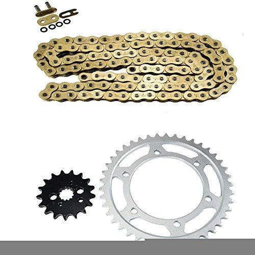 Gold O-Ring Chain and Sprocket Kit for Kawasaki VN800 A3-A11 Vulcan 1997 1998 1999 2000 2001 2002 2003 2004 2005