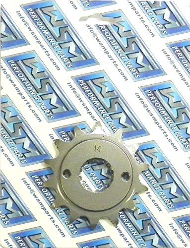 Kawasaki Steel Front Sprocket Moto-X 250 KL 250 1985-1986 2000-2003 2009-2010 KLR 250 1987-1999-2005 KLX 250 2003 KL 600 1985-1986 KLR 650 1987-2014 14 Teeth FSK-013-14