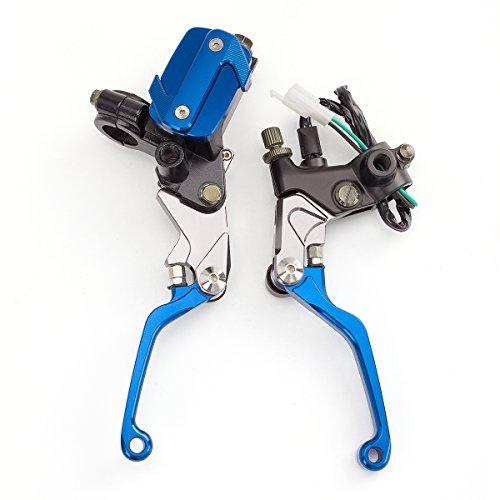 FXCNC Racing Brake Master Cylinder Reservoir Clutch Lever Universal Fit For KTM 200XC-WEXC 2009-2013150SXXC 2009-2013125SXEXC 2009-201385SX 105SX 2004-2011 Blue