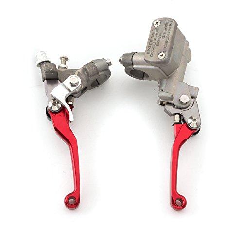 Rzmmotor Motorcycle Brake Master Cylinder Reservoir Clutch Lever Fit For Honda CR125RCR250R 96-07CR500R 92-01CRF150R 07-16CRF250RX 04-16CRF450R 02-06CRF450X 05-16