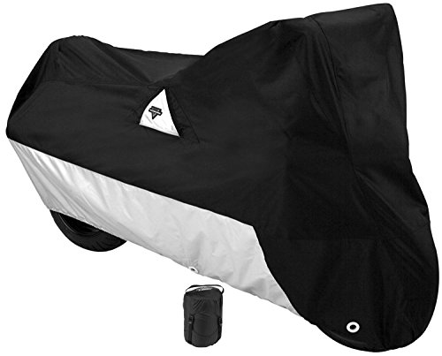Nelson-Rigg Defender 2000 Motorcycle Cover All-Weather Waterproof UV Air Vents Heat Shield Windshield Liner Compression Bag Antenna Grommets XX-Large Fits most Touring motorcycles Harley Davidson Ultra or Honda Goldwing