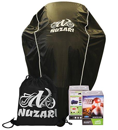 Nuzari Waterproof Polyester Outdoor Motorcycle Cover Medium - Black