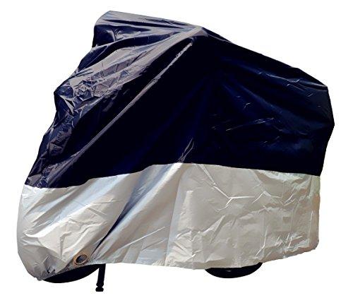 Tokept Indoor Outdoor Black& Silver Motorcycle Cover  Storage BagXL 96 For Harley Davidson Honda Kawasaki Suzuki Yamaha Victory