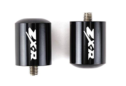 Motorcycle Bar Ends CNC Spools Sliders Hand Grip Handlebar End Caps For Kawasaki Ninja ZX-R Engraved ZX6R ZX7R ZX9R ZX10R ZX12R and More SPB012