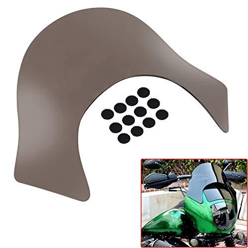 XMMT Smoke Lip Fairing Windshield Windscreen compatible For Harley Davidson Dyna Sportster Softail