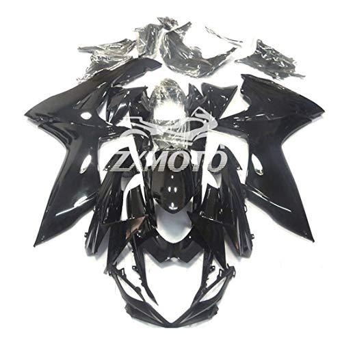 ZXMOTO Motorcycle Bodywork Fairing Kit for Suzuki GSXR 600 GSXR 750 2011 2012 2013 2014 2015 2016 2017 2018 2019 Gloss Black - Pieceskit 25