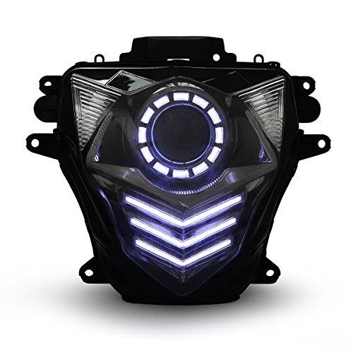 KT LED Headlight Assembly for Suzuki GSXR750 GSX-R750 2011-2019 V2 White DRL