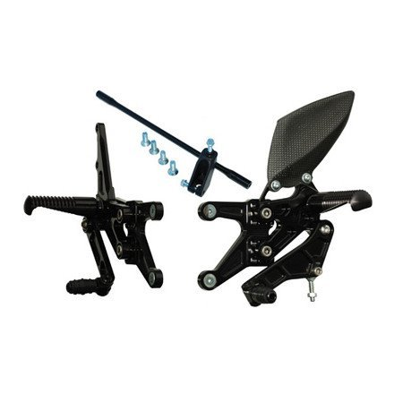 07-08 YAMAHA YZF-R1 Graves Adjustable Rearset BLACK