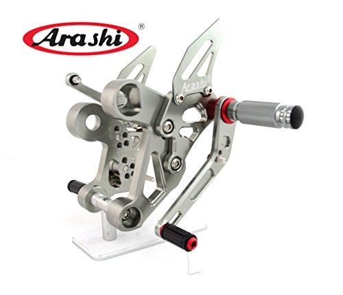 Arashi Adjustable Rearsets Footrest Rear Sets Foot Pegs Shift Gear For Yamaha FZ09 MT09 2014 2015 2016 Titanium Gray