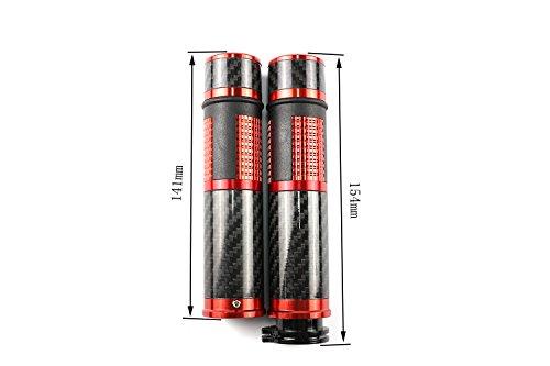 Carbon Fiber Universal 22mm 78Handlebar Grips Bar Ends For Honda CBR600RR CBR1000RR F3 F4 F5 CBR600 RC51