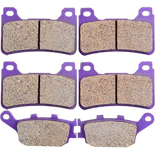ECCPP FrontRear Kevlar Carbon Brake Pads Fits 2007 2008 2009 2010 2011 HONDA CBR600RR CBR1000RR FA390 FA174