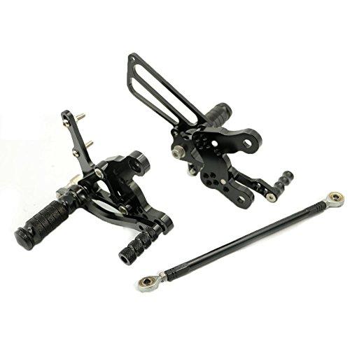 Alpha Rider Black CNC Billet Rearset Rear Sets Footpegs Adjustable For Honda CBR400RR NC23 NC29