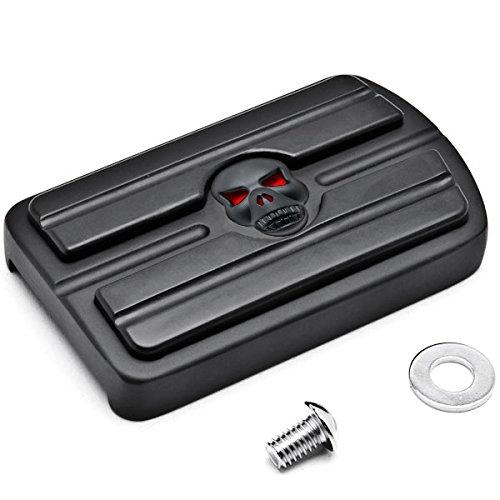 Krator Black Brake Pedal Pad Cover Black NonSlip Rubber For Kawasaki Vulcan 1700 2009-2014