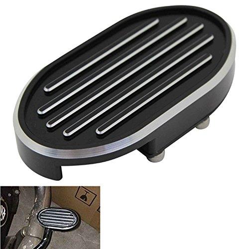 Special Cut Gril CNC Billet Brake Pedal Pad Cover For Harley Dyna Wide Glide V-Rod Sportster XL 883 1200