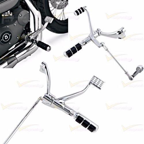 FULL SET Chrome sportster Forward Controls harley footrest Lever Linkages For Harley 883 xl 1200 2004-2013