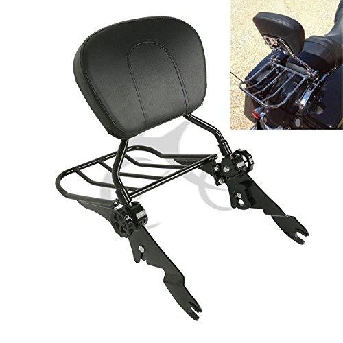 TCMT Detachable Stealth Backrest Sissy bar Luggage Rack For Harley Touring Models 2009 2010 2011 2012 2013 2014 2015 2016 2017 2018
