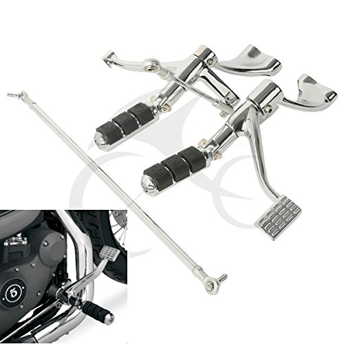 TCMT Motor Chrome Forward Controls Pegs Levers Linkages For Harley Sportster 883 SuperlowXL883L 2011 2012 2013 Sportster 883R XL883R2005 2006 2007