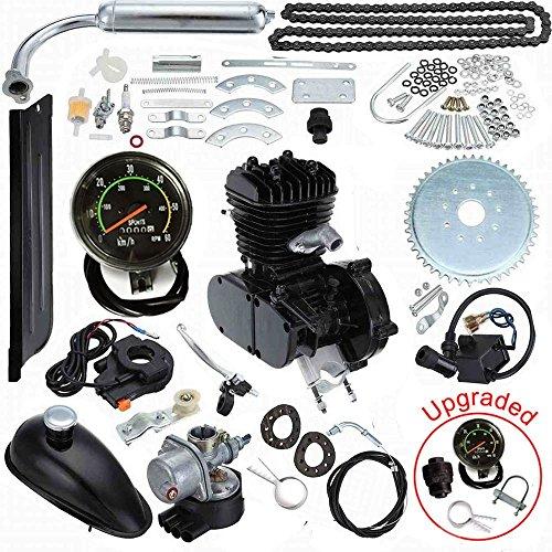 Seeutek 80cc Bicycle Engine Kit 2-Stroke Gas Motorized Motor Bike Kit Upgrade with Speedometer
