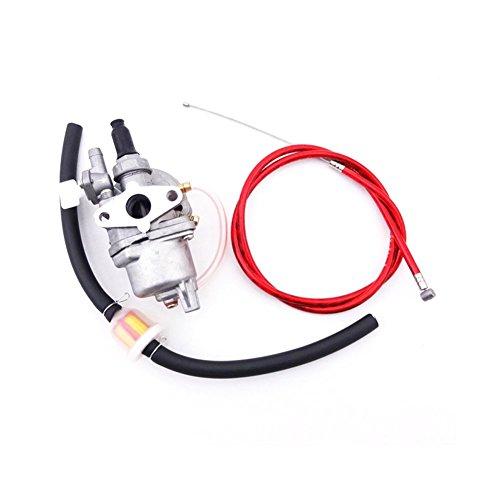 TC-Motor Red Gas Throttle Cable  Carb Carburetor  Fuel Line Hose Filter For 2 Stroke 47cc 49cc Engine Parts Mini Dirt Pocket Bike Moto